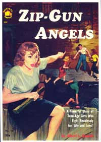 Zip-Gun Angels - 11 x 17 Retro Book Cover Poster