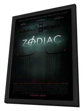 Zodiac - 27 x 40 Movie Poster - Style A - in Deluxe Wood Frame