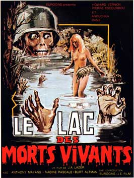 Zombie Lake - 11 x 17 Movie Poster - French Style A