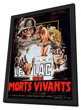 Zombie Lake - 11 x 17 Movie Poster - French Style A - in Deluxe Wood Frame