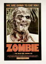 Zombie - 11 x 17 Movie Poster - Style F