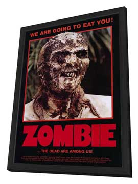 Zombie - 27 x 40 Movie Poster - Style A - in Deluxe Wood Frame