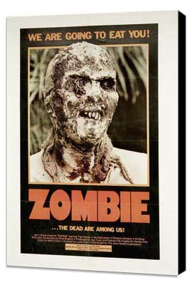 Zombie - 11 x 17 Movie Poster - Style F - Museum Wrapped Canvas