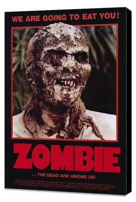 Zombie - 27 x 40 Movie Poster - Style A - Museum Wrapped Canvas