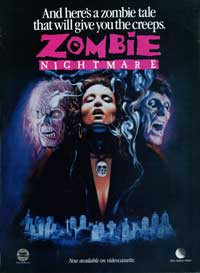 Zombie Nightmare - 11 x 17 Movie Poster - Style A