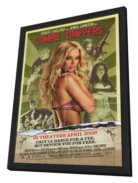 Zombie Strippers - 27 x 40 Movie Poster - Style A - in Deluxe Wood Frame