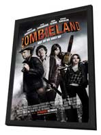 Zombieland - 27 x 40 Movie Poster - Style B - in Deluxe Wood Frame