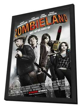 Zombieland - 11 x 17 Movie Poster - Style B - in Deluxe Wood Frame