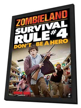 Zombieland - 11 x 17 Movie Poster - Style D - in Deluxe Wood Frame