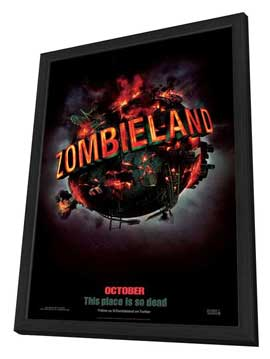 Zombieland - 27 x 40 Movie Poster - Style A - in Deluxe Wood Frame
