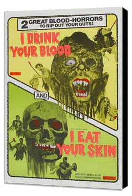 Zombies - 11 x 17 Movie Poster - Style A - Museum Wrapped Canvas