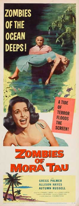Zombies of Mora Tau - 14 x 36 Movie Poster - Insert Style A