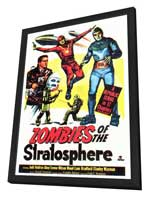 Zombies of the Stratosphere - 27 x 40 Movie Poster - Style A - in Deluxe Wood Frame