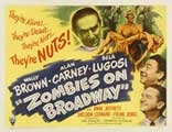 Zombies on Broadway - 11 x 14 Movie Poster - Style A