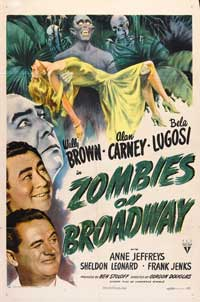 Zombies on Broadway - 27 x 40 Movie Poster - Style A