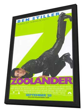 Zoolander - 11 x 17 Movie Poster - Style A - in Deluxe Wood Frame