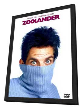 Zoolander - 27 x 40 Movie Poster - Style D - in Deluxe Wood Frame