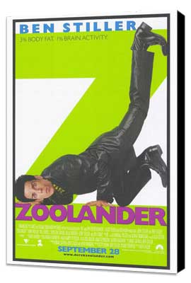 Zoolander - 27 x 40 Movie Poster - Style A - Museum Wrapped Canvas