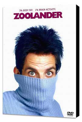 Zoolander - 27 x 40 Movie Poster - Style D - Museum Wrapped Canvas