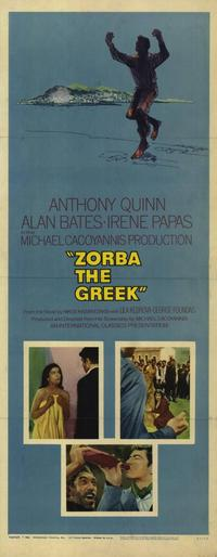Zorba the Greek - 14 x 36 Movie Poster - Insert Style A
