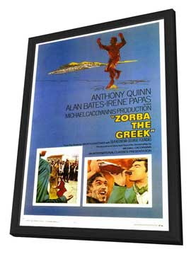 Zorba the Greek - 27 x 40 Movie Poster - Style A - in Deluxe Wood Frame