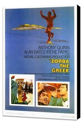 Zorba the Greek - 27 x 40 Movie Poster - Style A - Museum Wrapped Canvas