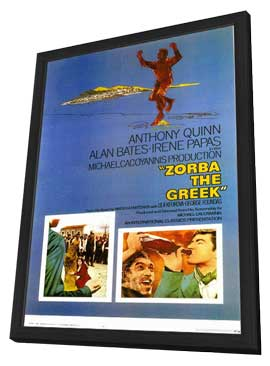 Zorba the Greek - 11 x 17 Movie Poster - Style A - in Deluxe Wood Frame