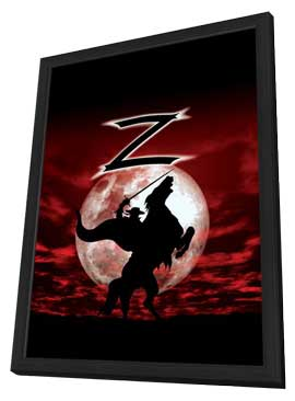 Zorro - 11 x 17 Movie Poster - Style A - in Deluxe Wood Frame