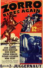 Zorro Rides Again - 11 x 17 Movie Poster - Style A