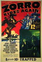 Zorro Rides Again - 11 x 17 Movie Poster - Style B