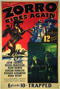 Zorro Rides Again - 27 x 40 Movie Poster - Style B