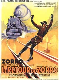 Zorro Rides Again - 11 x 17 Movie Poster - French Style A