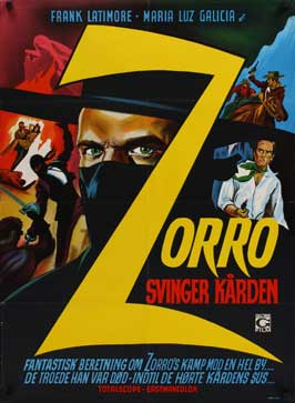 Zorro the Avenger - 11 x 17 Movie Poster - Danish Style A