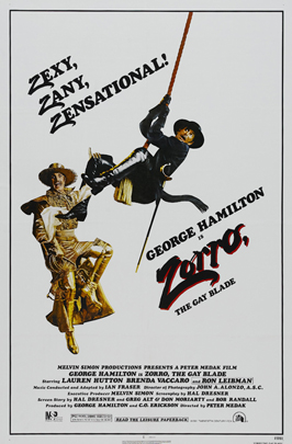 Zorro, the Gay Blade - 11 x 17 Movie Poster - Style B