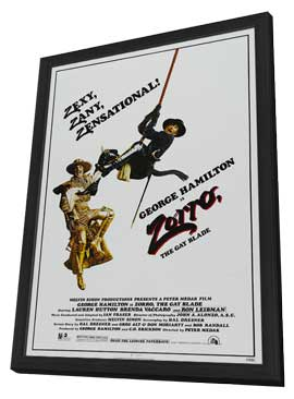 Zorro, the Gay Blade - 11 x 17 Movie Poster - Style B - in Deluxe Wood Frame
