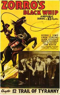 Zorro's Black Whip - 11 x 17 Movie Poster - Style B