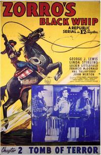 Zorro's Black Whip - 11 x 17 Movie Poster - Style C