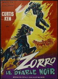 Zorro's Black Whip - 43 x 62 Movie Poster - French Style A