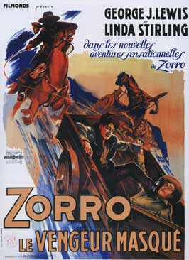Zorro's Black Whip - 27 x 40 Movie Poster - French Style B