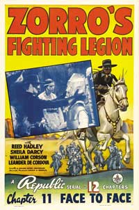 Zorro's Fighting Legion - 11 x 17 Movie Poster - Style B