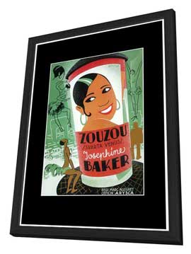 Zouzou - 11 x 17 Movie Poster - Style A - in Deluxe Wood Frame