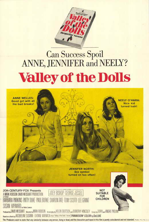 Image result for movie poster valley of the dolls